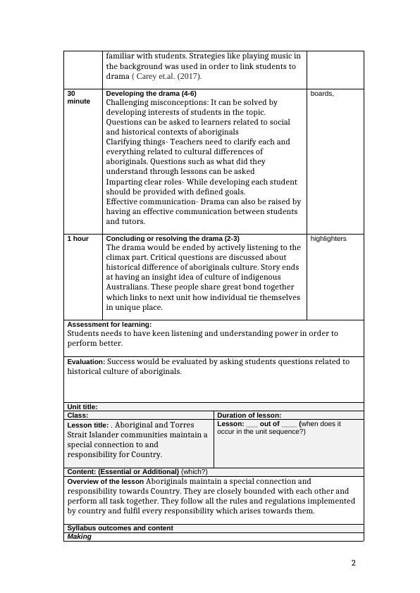 Culture Aboriginal and Torres  Assignment