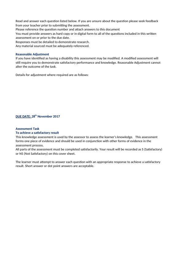 ACMVET203A - Assist with Surgery Preparation
