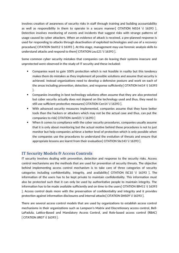 IT Security Risks and Risk Mitigation Approaches : Report