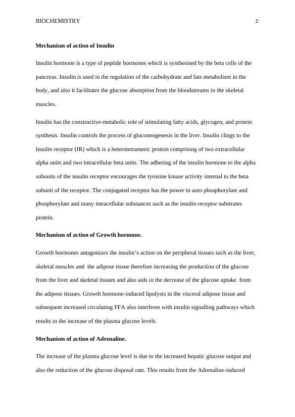 Biochemistry Assignment (Doc)