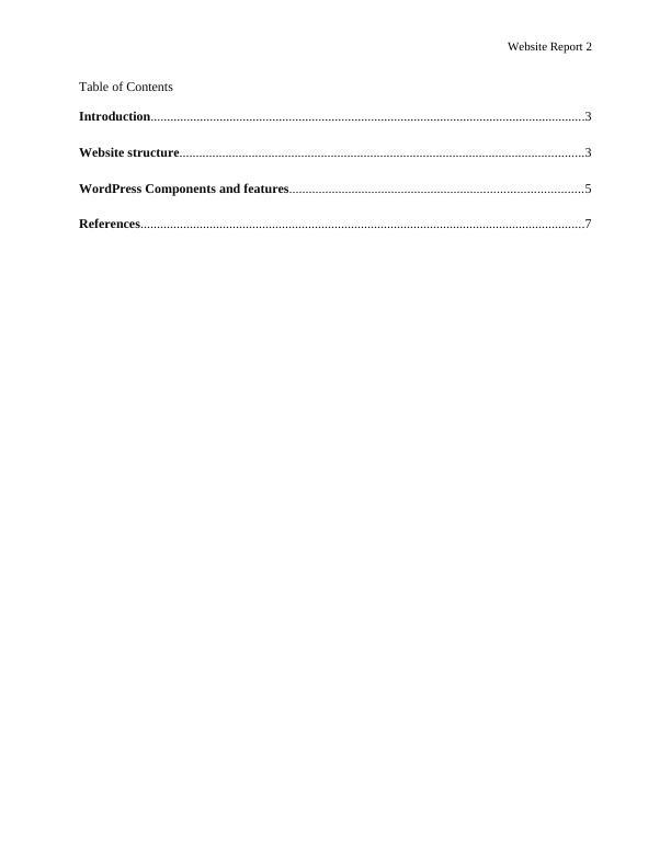 CIS5101 Report on Website Analysis