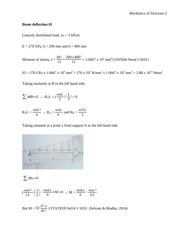 Mechanics of Structure Assignment