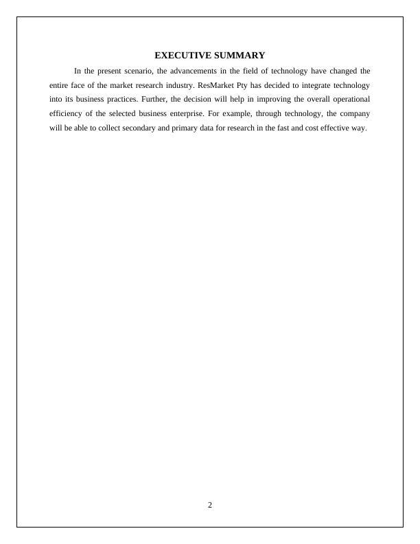 HC2022, Market Research