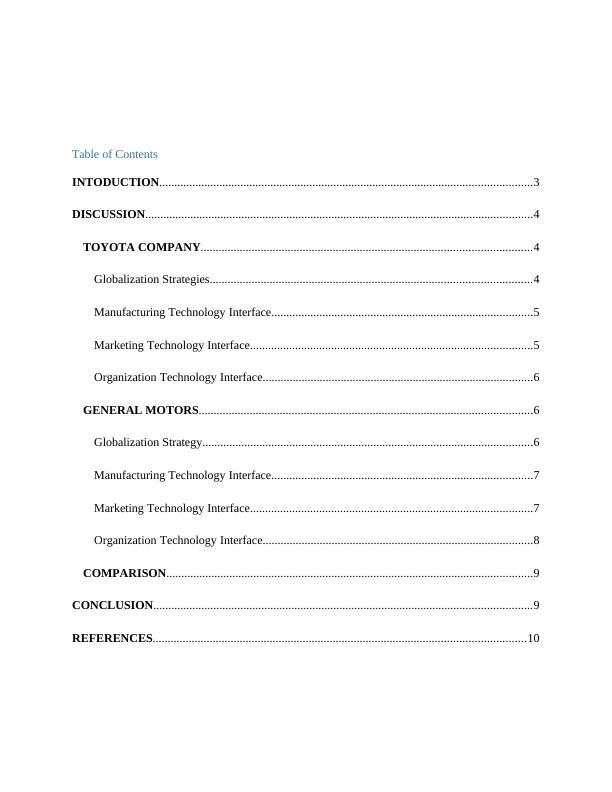 Integrating Technology in Business : Assignment