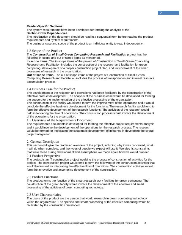 Development of Small Green Computing Research- Document
