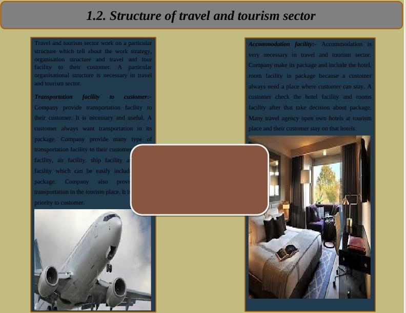 Travel & Tourism Sector - Work Strategy , Organizational Structure