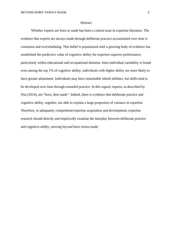 (PDF) Beyond Born versus Made