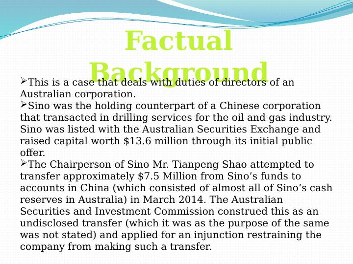 Australian Securities and investments Commission Assignment