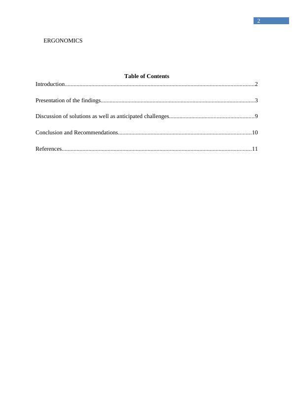 Assignment on Ergonomics and Human Factors