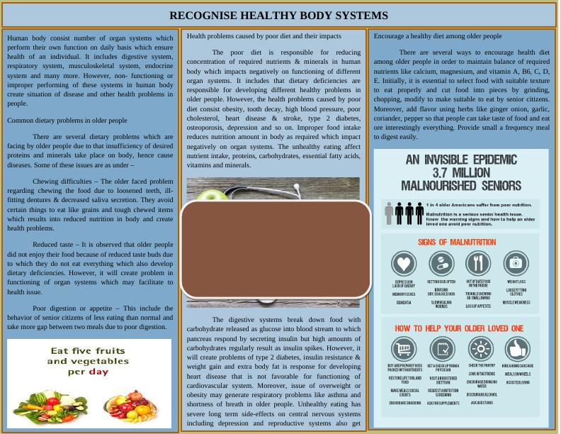 Encourage a healthy diet among older people