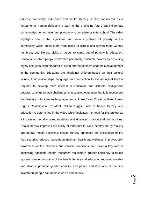 Healthy child development  - Assignment PDF