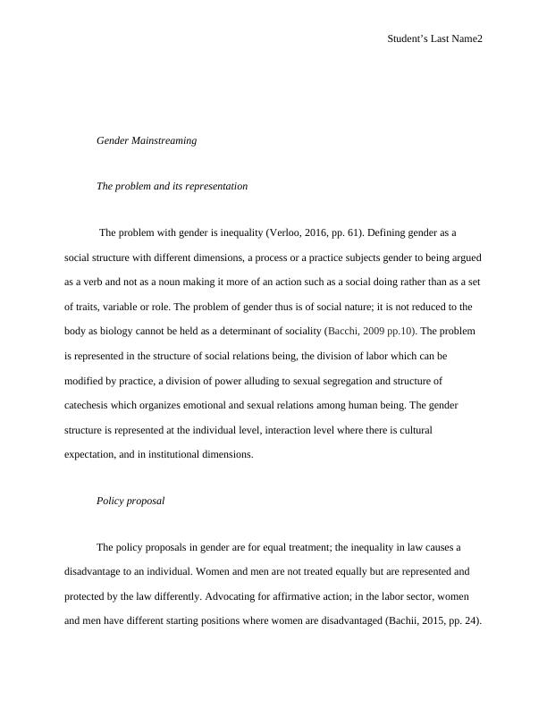 Social World and Social Policy | Assignment