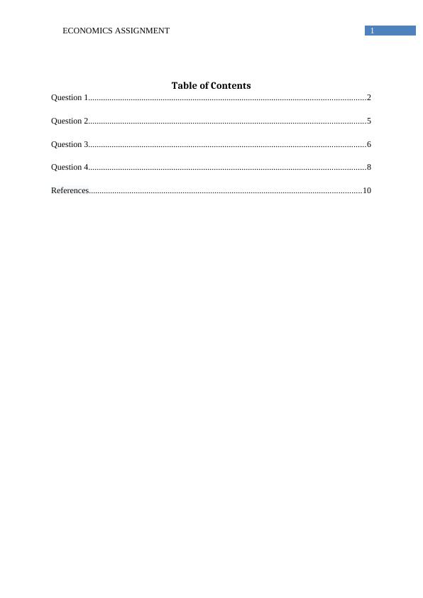 Economics Assignment - Calculation of Gross Domestic Product (GDP)