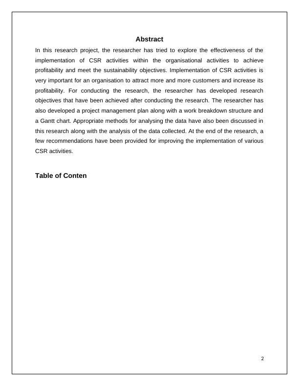 A Case Study on Argos- CSR Activities