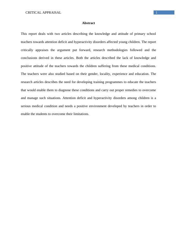Child Psychology Assignment