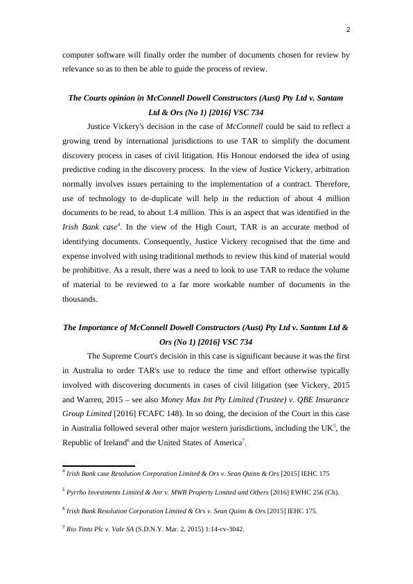 7 Tar and Civil Litigation