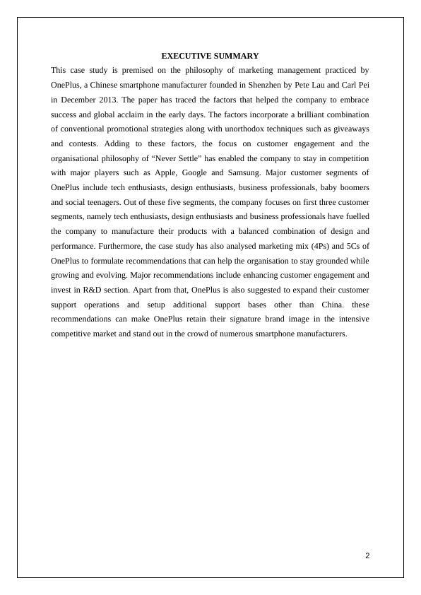 KEL981   Marketing Management Of OnePlus