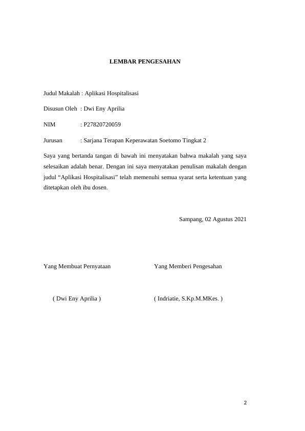 Hospitalization Application - Assignment