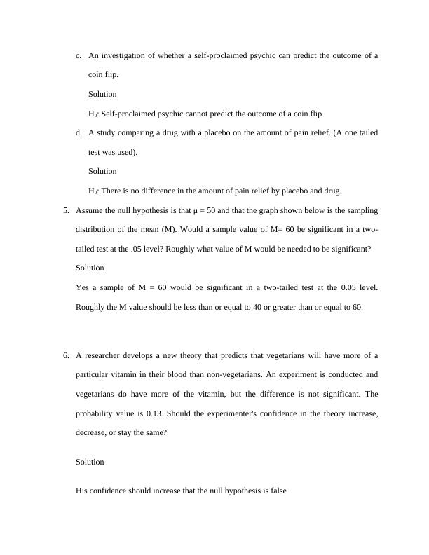 Report on Experiment Test Hypothesis