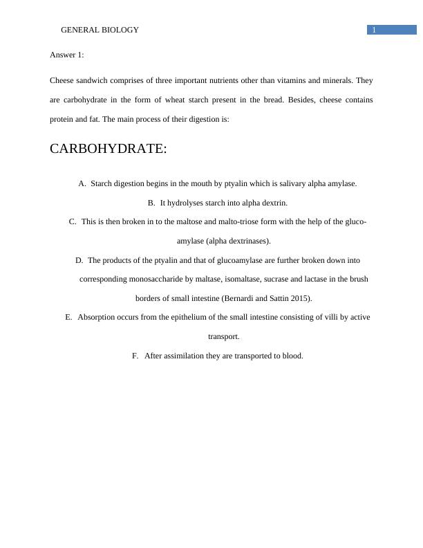 Document On General Biology