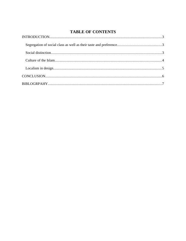 Segregation of the Social Class : Report