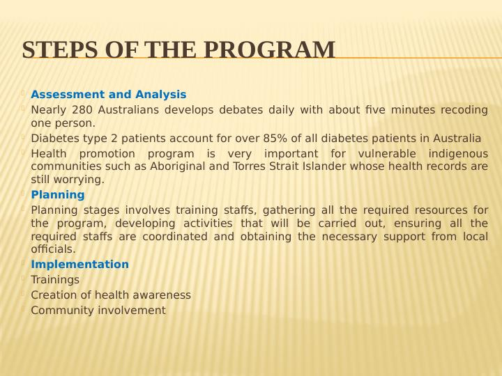Prevention and Healthy Living - Assignment
