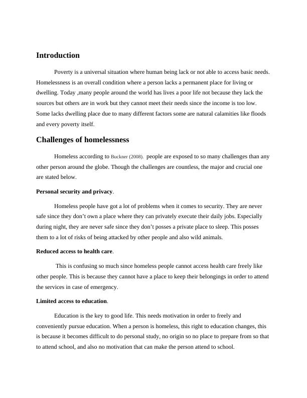Challenges of Poverty and Homelessness PDF