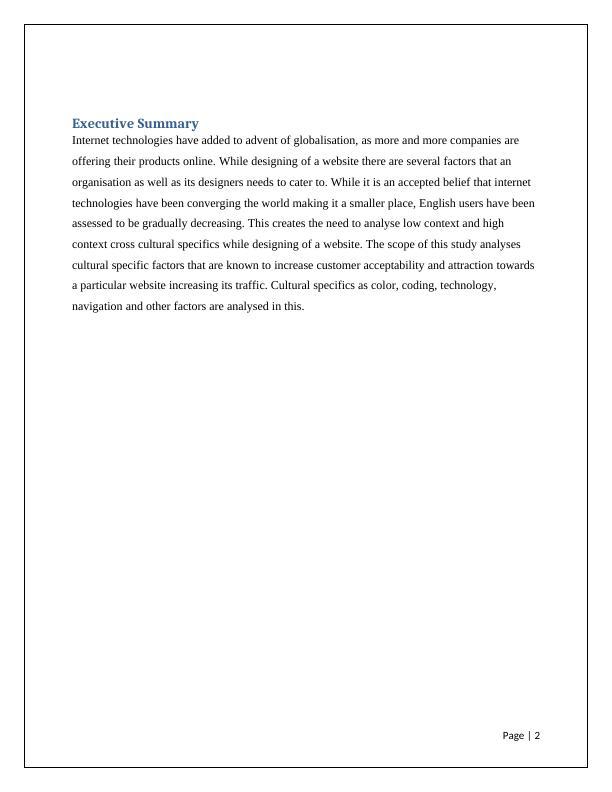Building a Cross Cultural Web Design | Report