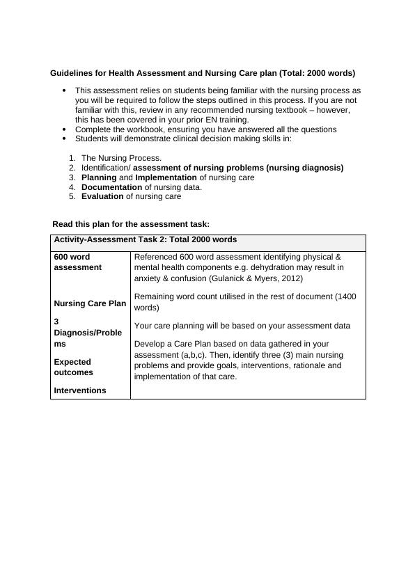 NURBN2000: Transition Into Nursing Studies