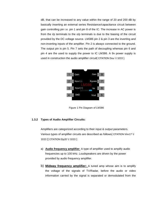 Measurement & Evaluation of Audio Amplifier Circuit  Assignment PDF