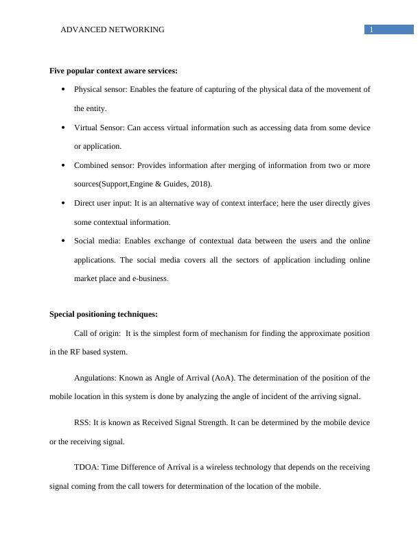 Advanced Networking Assignment PDF