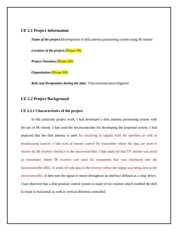 Antenna Positioning System Development Report