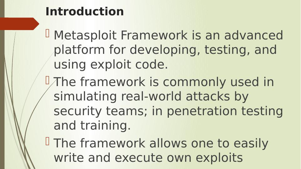 Metasploit Framework Assignment PDF