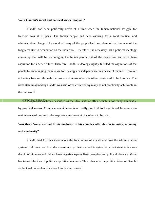 History essay on gandhiji PDF