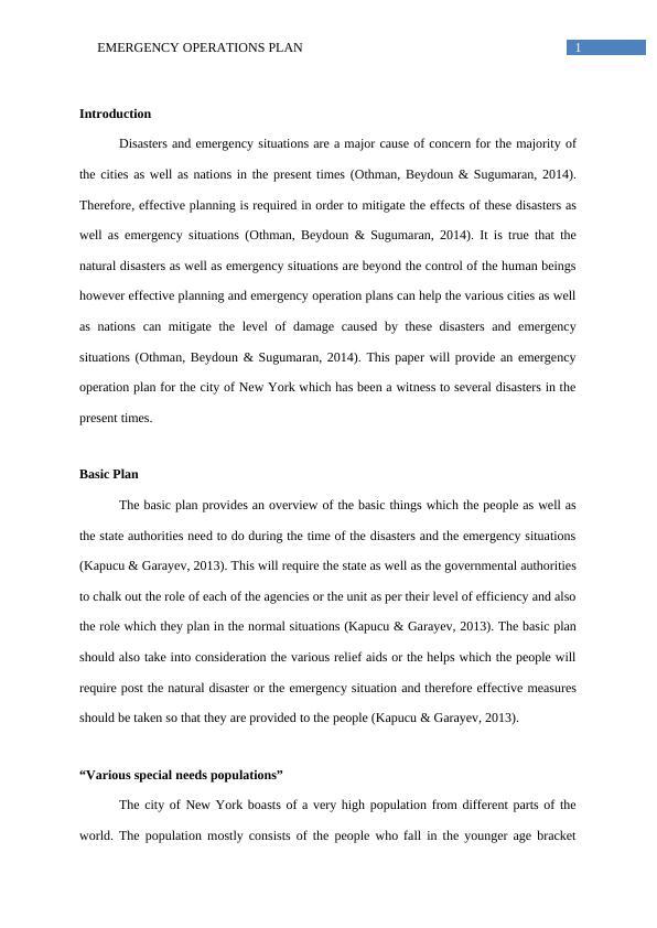 Emergency Operations Plan : PDF