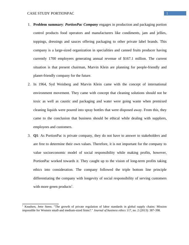 PortionPac Case Study (Doc)