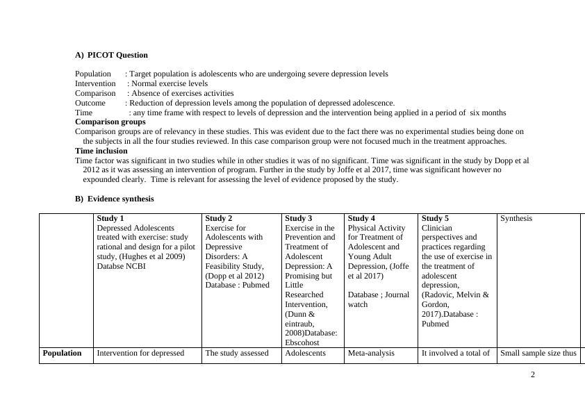 Paper on Task Evidence & Evaluation
