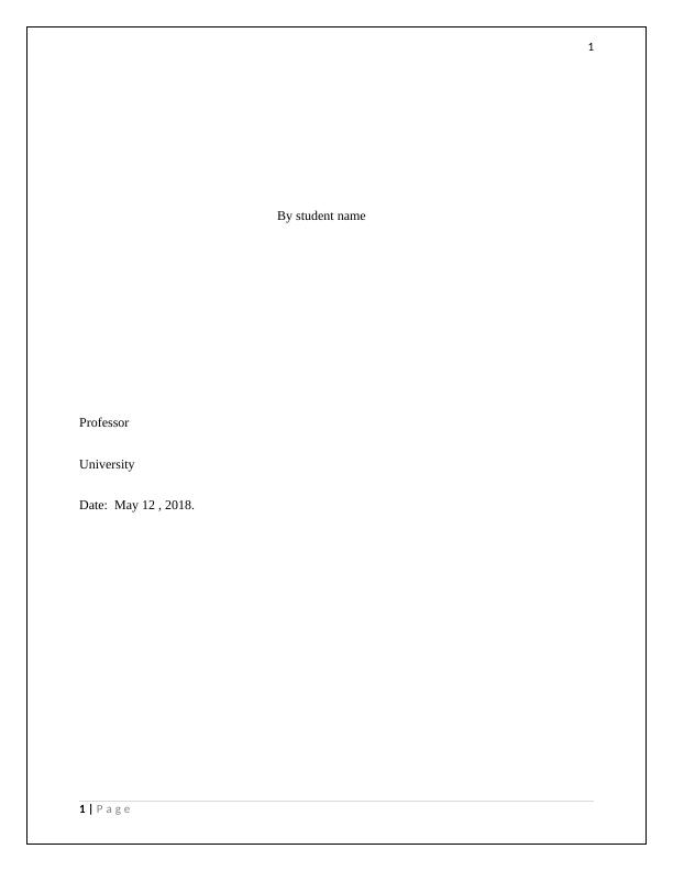 Assignment on Financial Analysis (Doc)