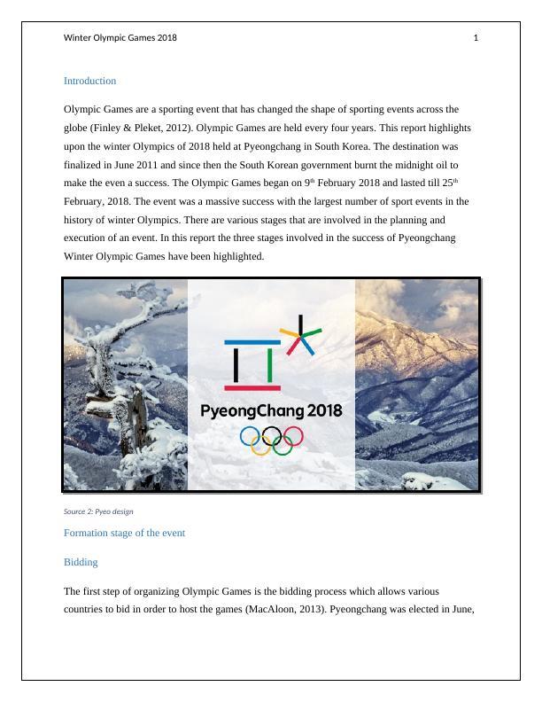 Olympic Programme PyeongChang 2018  (PDF)