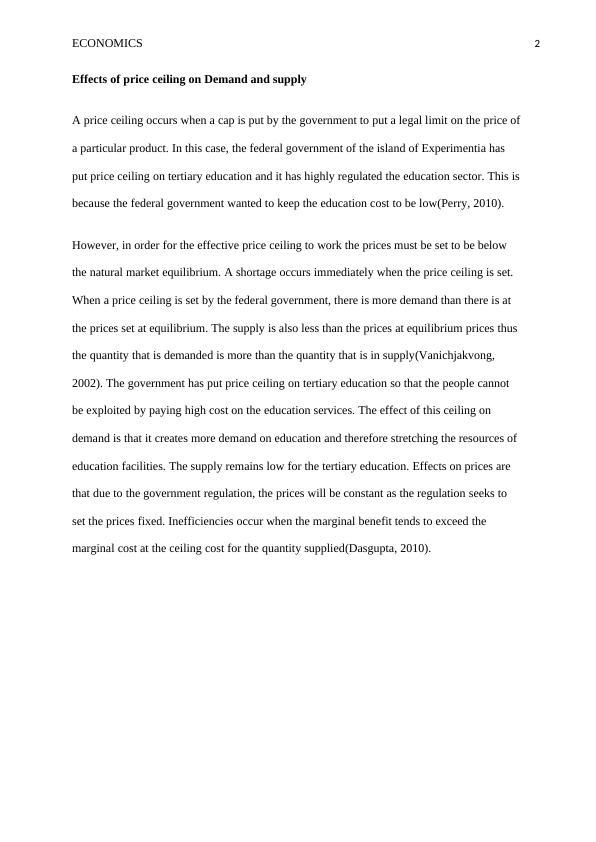 (solved) Economics - Assignment PDF