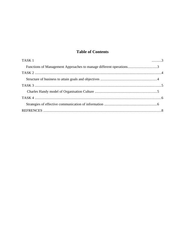 Unit 3 Structure Culture Organizations and Behavior Assignment