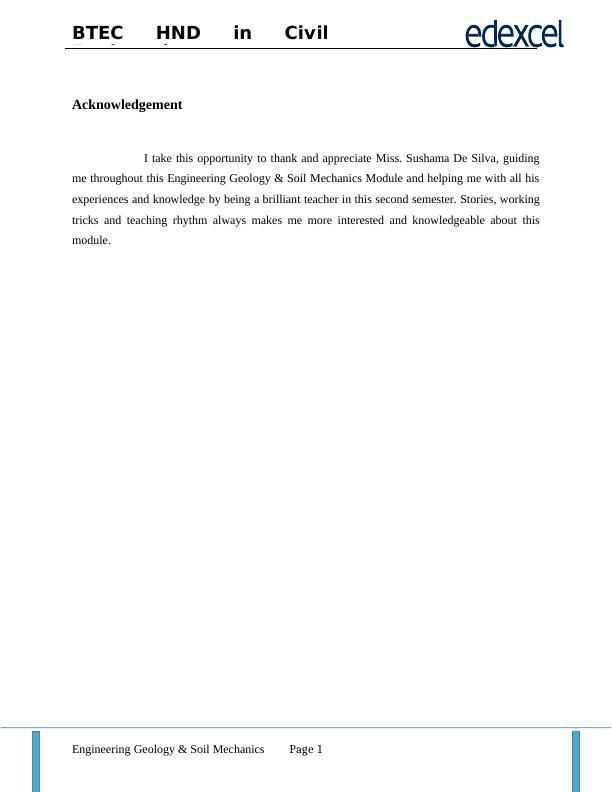 Engineering Geology & Soil Mechanics