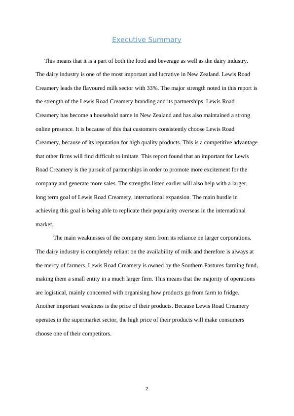 Strategic Analysis Report: Assignment