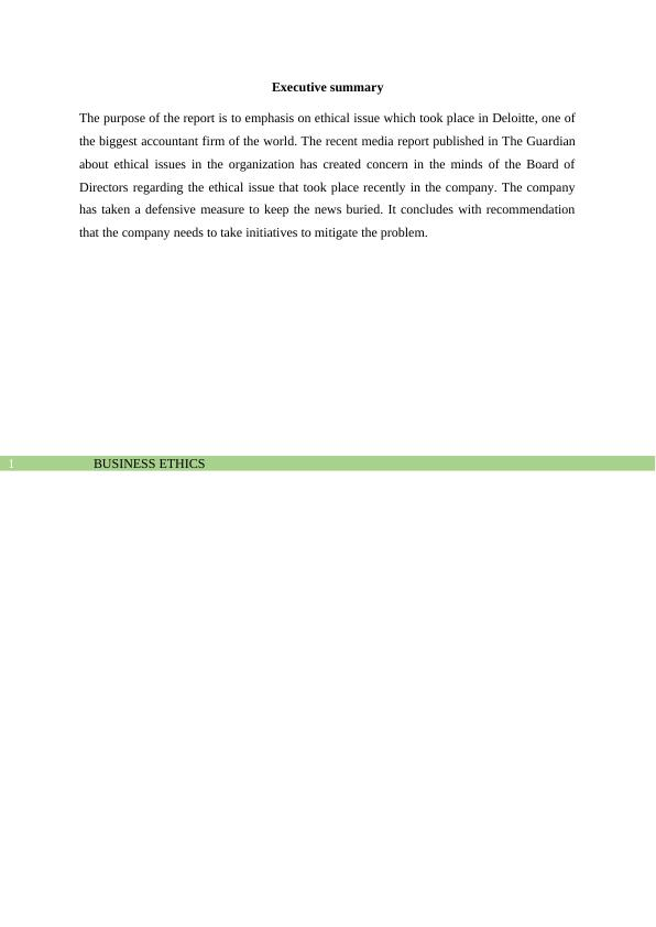 Business Ethics (Doc) - Assignment