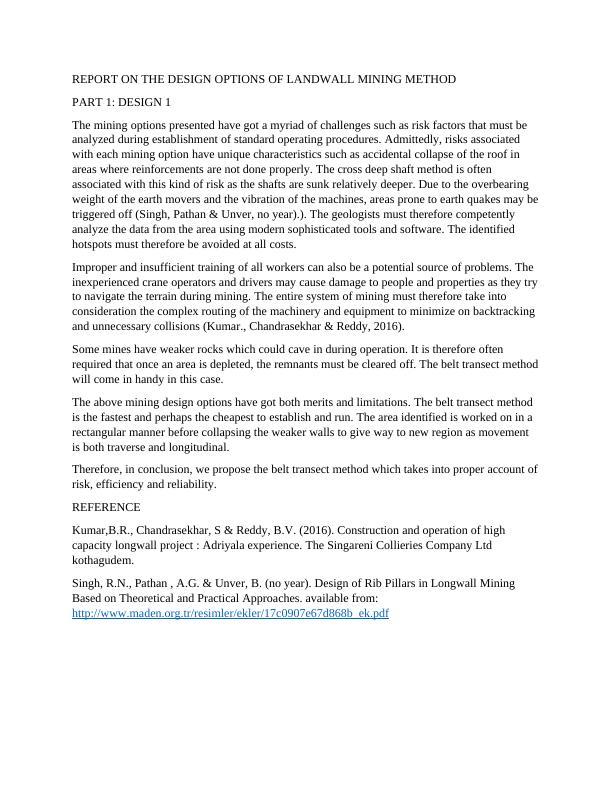 Risk Factors Involved In Mining | ENER20002 Portfolio Assignment