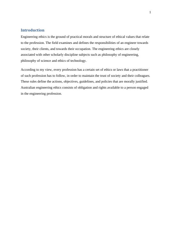 Ethics and Professional Practice - Assignment