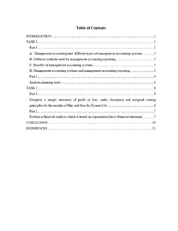 Management Accounting Assignment - KFC