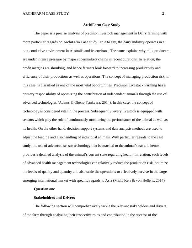 Case Study on ArchiFarm