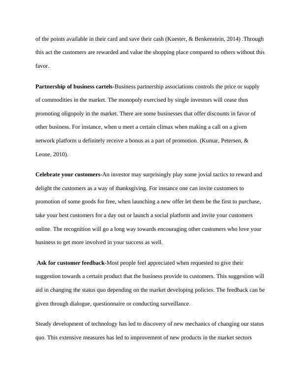 Samle Paper on Relationship Management