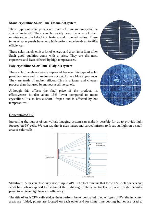 conventional photovoltaics systems Assignment PDF